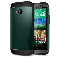 SGP Чехол для HTC ONE M8 Slim Armor, зеленый SGP10814