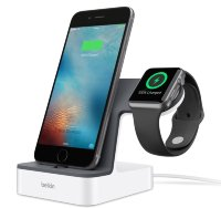 Док-станция Belkin PowerHouse Charge Dock для Apple Watch и iPhone (White)