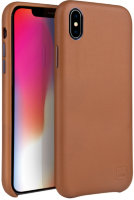 Чехол Uniq для iPhone X/XS Duffle Vale Genuine leather Camel