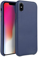 Чехол Uniq для iPhone X/XS Duffle Vale Genuine leather Navy blue