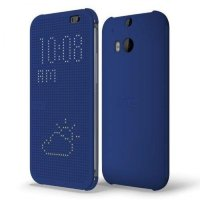 HTC чехол One M8 dot case blue (HC M100)