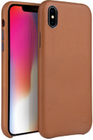 Чехол Uniq для iPhone XS Max Duffle Vale Genuine leather Camel