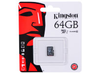 micro SDXC карта памяти Kingston 64GB Class10 UHS-I без адаптера (SDCX10/64GBSP)