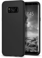 Чехол Spigen Liquid Crystal для Galaxy S8 Plus, Matte Black (571CS21665)