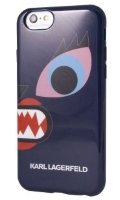 Lagerfeld iPhone 6 Monster Choupette Hard Blue