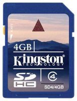 SDHC карта памяти Kingston 4GB Class4 (SD4/4GB)