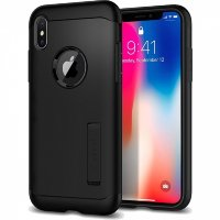 Чехол Spigen Slim Armor для iPhone X Black (057CS22138)