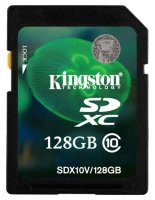 SDXC карта памяти Kingston 128GB Class10 UHS-I (SDX10V/128GB)