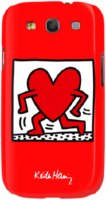 "Scenario Keith Haring ""Running Heart""-чехол для Samsung S3, Красный"