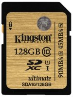 SDXC карта памяти Kingston 128GB Class10 Ultimate UHS-I R/W 90/45 MB/s (SDA10/128GB)