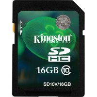SDHC карта памяти Kingston 16GB Class10 UHS-I (SD10V/16GB)