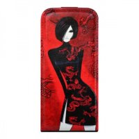 City Girls для iPhone 5/5S Flip Leather Red