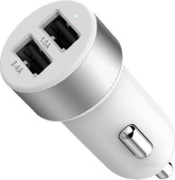 LAB.C Dual USB Car Charger A.L 3.4A - White Silver