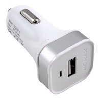 Momax XC USB Car Charger, White