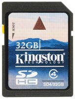 SDHC карта памяти Kingston 32GB Class4 (SD4/32GB)