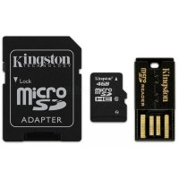 micro SDHC карта памяти Kingston 4GB Mobility Kit Class10 (MBLY10G2/4GB)