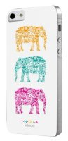 India для iPhone 5/5S Hard Elephants White