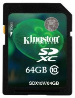 SDXC карта памяти Kingston 64GB Class10 (SDX10V/64GB)