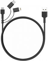Кабель Aukey 3-in-1 Braided USB Cable 1.2м Black CB-BAL5