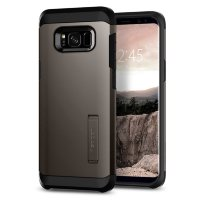 Чехол Spigen для Galaxy S8 Plus Tough Armor, Gunmetal (571CS21693)