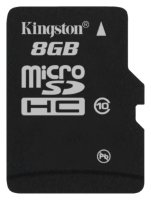 micro SDHC карта памяти Kingston 8GB Class10 UHS-I без адаптеров (SDC10/8GBSP)