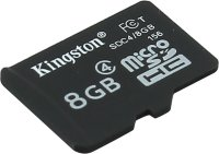 micro SDHC карта памяти Kingston 8GB Class4 без адаптеров (SDC4/8GBSP)