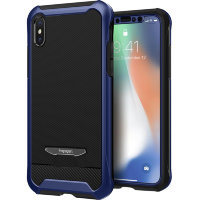 Чехол Spigen Pro Guard для Iphone X цвет Metallic Blue (057CS22697)