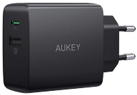 СЗУ Aukey USB-C Wall Charger with Power Delivery & Quick Charge 3.0 Black PA-Y17