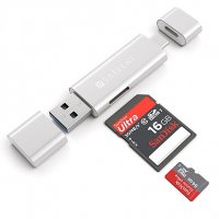 Satechi Aluminum Type-C USB 3.0 and Micro/SD Card Reader Silver (ST-TCCRAS)