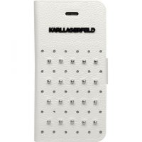 Lagerfeld iPhone 5/5S TRENDY Booktype White