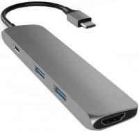 USB-C хаб Satechi Slim Aluminum Adapter 2USB/1USB-C/1HDMI Space Grey Серый (ST-CMAM)