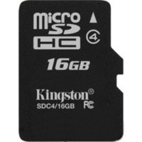 micro SDHC карта памяти Kingston 16GB Class4 без адаптера (SDC4/16GBSP)
