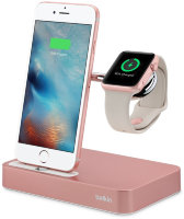 Belkin Valet Charge Dock for Apple Watch + iPhone, Rose Gold
