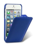 Melkco Premium Leather Case for Apple iPhone 5/5s- Jacka Type, Blue