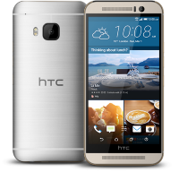 HTC One M9 Silver on Gold
