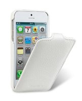 Melkco Premium Leather Case for Apple iPhone 5/5s- Jacka Type, White