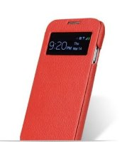 Melkco Flip Cover for Galaxy S4, Красный с окном