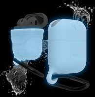 Чехол Elago для AirPods Waterproof hang case Nightglow blue