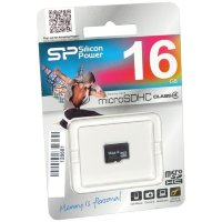 micro SDHC карта памяти Silicon Power 16GB Class4 без адаптера