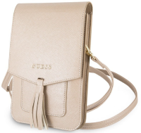 Сумка для смартфона Guess для  Wallet Bag Saffiano look Beige