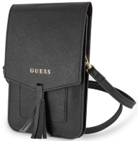 Сумка для смартфона Guess для  Wallet Bag Saffiano look Black