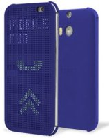 HTC чехол One E8 dot case blue (HC M110)