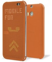 HTC чехол One E8 dot case orange (HC M110)
