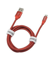 Кабель Hardiz MFI Lightning to USB cable Tetron Series 1,2м Красный (HRD505202)