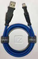 Кабель Hardiz MFI Lightning to USB cable Tough Nylon 1,2м Голубой (HRD505102)