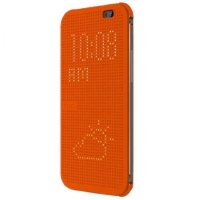 HTC чехол One M8 dot case orange (HC M100)