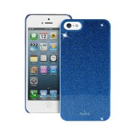 Puro Glitter Cover for iPhone 5/5s, Синий