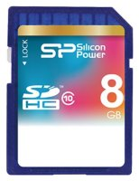SDHC карта памяти Silicon Power 8GB Class10
