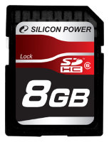 SDHC карта памяти Silicon Power 8GB Class6