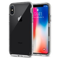 Чехол Spigen Neo Hybrid Crystal для iPhone X Satin Silver (057CS22174)